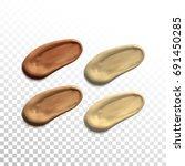 3d realistic concealer smear... | Shutterstock .eps vector #691450285