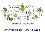 modern flat thin line design...   Shutterstock .eps vector #691454215