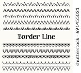 border line collection | Shutterstock .eps vector #691455031