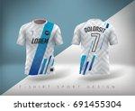 soccer t shirt design slim... | Shutterstock .eps vector #691455304