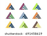 initial logo triangle | Shutterstock .eps vector #691458619
