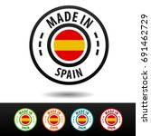 made in spain badges with... | Shutterstock .eps vector #691462729