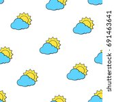 vector illustration. seamless... | Shutterstock .eps vector #691463641