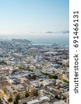 aerial view of san francisco... | Shutterstock . vector #691466131