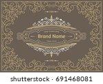 monogram creative cards... | Shutterstock .eps vector #691468081
