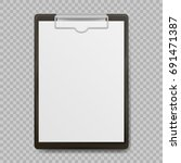 Black Clipboard With Blank...