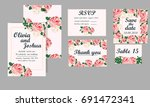 vintage wedding invitation ... | Shutterstock . vector #691472341