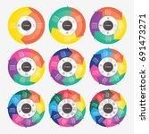 vector circle arrows for... | Shutterstock .eps vector #691473271