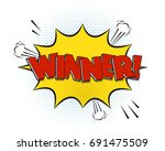 winner comic explosion isolated ... | Shutterstock .eps vector #691475509
