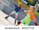 beginners are learning in line... | Shutterstock . vector #69147715