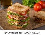 Delicious Sandwich With Ham ...