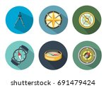 compass icon | Shutterstock .eps vector #691479424