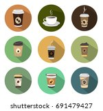 coffee icons | Shutterstock .eps vector #691479427