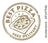grunge rubber stamp with pizza... | Shutterstock .eps vector #69147946