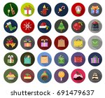 christmas icons | Shutterstock .eps vector #691479637