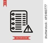 notebook vector icon ... | Shutterstock .eps vector #691483777