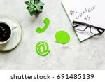 contact us for company feed... | Shutterstock . vector #691485139