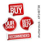 recommended buy  our choice... | Shutterstock .eps vector #69148738
