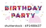 happy birthday greeting card of ... | Shutterstock .eps vector #691488637