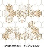 japanese pattern background... | Shutterstock .eps vector #691491229