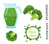 vector set of natural fresh... | Shutterstock .eps vector #691494505