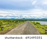 streets and mountains and... | Shutterstock . vector #691495351