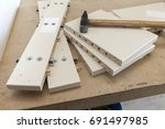 a tool for the assembly of... | Shutterstock . vector #691497985