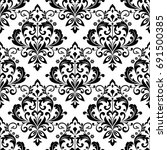 damask wallpaper. a seamless... | Shutterstock .eps vector #691500385