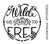 wild and free hand brush...   Shutterstock .eps vector #691505821