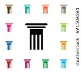 isolated pillar icon. history... | Shutterstock .eps vector #691506361