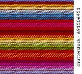Colorful Mexican Serape Blanke...
