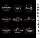 vintage quality labels | Shutterstock .eps vector #691508917
