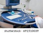 procedure of ultrasound...   Shutterstock . vector #691510039