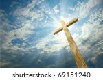 cross against the sky | Shutterstock . vector #69151240