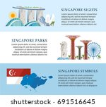 singapore info banners about... | Shutterstock .eps vector #691516645