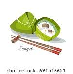 zongzi food taiwan china japan... | Shutterstock .eps vector #691516651