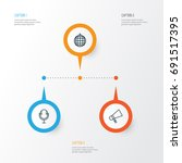 audio icons set. collection of...   Shutterstock .eps vector #691517395