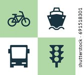 shipment icons set. collection... | Shutterstock .eps vector #691518301