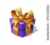 funny cartoon colorful gift box ... | Shutterstock .eps vector #691518361