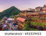 top view of jiufen old street... | Shutterstock . vector #691519411