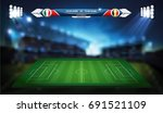 football or soccer playing... | Shutterstock .eps vector #691521109