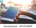 safety concept  the driver... | Shutterstock . vector #691524859