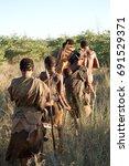 ghanzi  botswana   may 14  san... | Shutterstock . vector #691529371