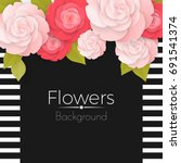 paper flowers background with... | Shutterstock .eps vector #691541374