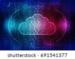 2d rendering cloud computing ... | Shutterstock . vector #691541377