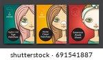 packages design  cartoon beauty ... | Shutterstock .eps vector #691541887