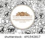 vintage delicate invitation... | Shutterstock .eps vector #691542817