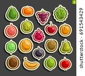 vector set icons of colorful... | Shutterstock .eps vector #691543429