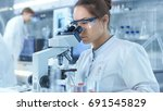 medical research scientists... | Shutterstock . vector #691545829