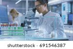 medical research scientist... | Shutterstock . vector #691546387